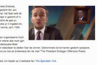 Priisfraach: 1300 euro foar it misledigjendste Erdogan-gedicht