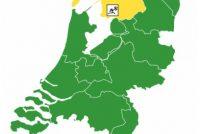 Tiisdei ek noch koade giel yn Fryslân