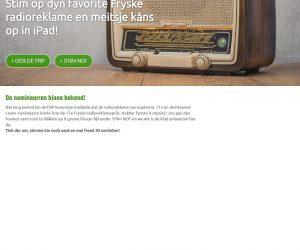 Stim op jim favoryte Fryske Radioreklame! En meitsje kâns op in iPad.