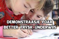 9 maart: demonstraasje foar bettere lessen Frysk