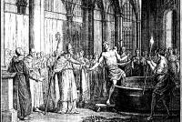 Kening Redbad wegeret de doop