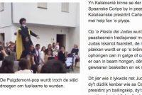 """Spaanske plysje helpt mei by """"deasjitten"""" pop Puigdemont"""