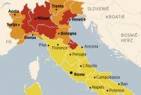 Corona wreidet hurd: Noard-Italië giet op 't slot