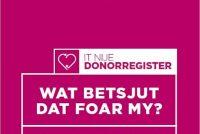 Ynformaasje donorregister hjirre yn it Frysk te finen