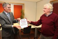 Johan Veenstra beneamd ta eareboarger fan Weststellingwerf