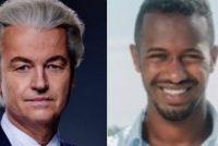 Ordinêre skelpartij Geert Wilders en Habtamu de Hoop op Twitter